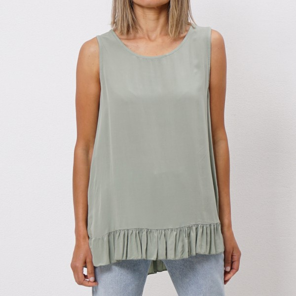 viscose top with frills