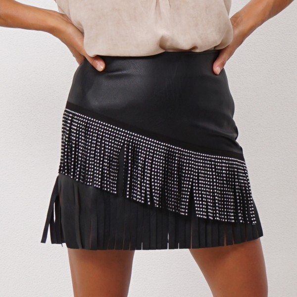 mini skirt with applications