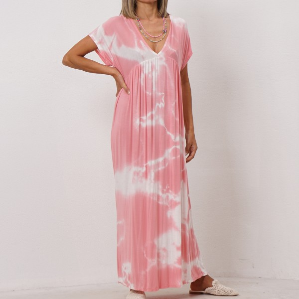 viscose tie dye dress