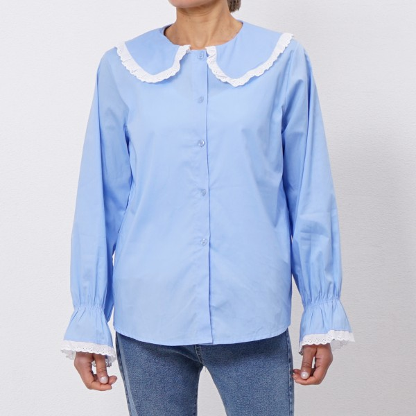 blouse in poplin w / elastano